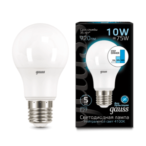 102502210 s 1 300x300 - Лампа Gauss LED A60 10W E27 4100K step dimmable