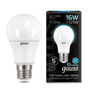 102502216 300x300 - Лампа Gauss LED A60 16W E27 4100K