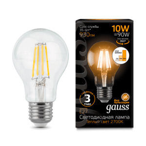 102802110 s 1 300x300 - Лампа Gauss LED Filament A60 E27 10W 2700К step dimmable