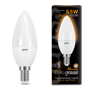 103101107 300x300 - Лампа Gauss LED Candle E14 6.5W 2700К