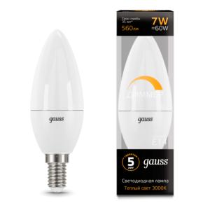 103101107 D5555555 300x300 - Лампа Gauss LED Candle-dim E14 7W 3000К диммируемая