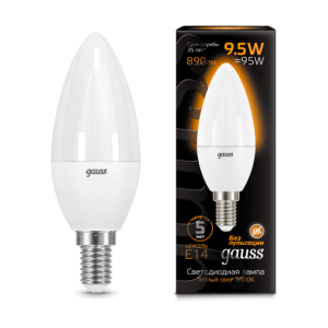 103101110 300x300 - Лампа Gauss LED Candle E14 9.5W 3000К