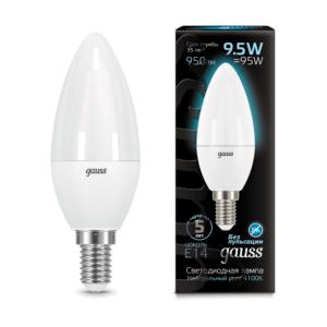 103101210 300x300 - Лампа Gauss LED Candle E14 9.5W 4100К 103101210