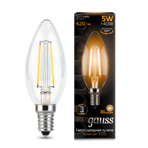 103801105 300x300 - Лампа Gauss LED Filament Candle E14 5W 2700К
