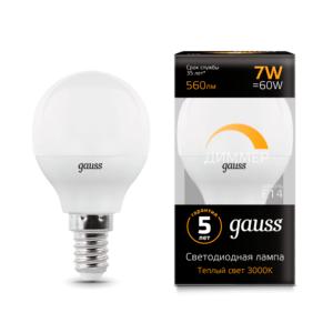 105101107 d 300x300 - Лампа Gauss LED Globe-dim E14 7W 3000К диммируемая