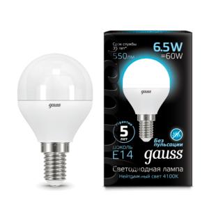 105101207 300x300 - Лампа Gauss LED Globe E14 6.5W 4100K