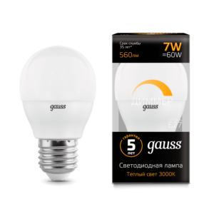 105102107 d 300x300 - Лампа Gauss LED Globe-dim E27 7W 3000К диммируемая