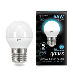 105102207 300x300 - Лампа Gauss LED Globe E27 6.5W 4100K