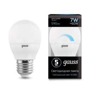 Лампа Gauss LED Candle-dim E14 7W 4100К диммируемая