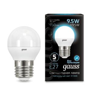 105102210 300x300 - Лампа Gauss LED Globe E27 9.5W 4100K