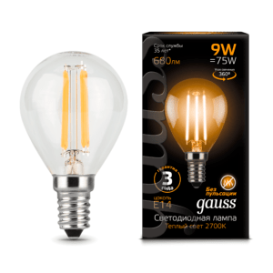 Лампа Gauss LED Filament Globe E14 7W 4100K