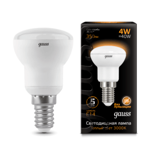 106001104 300x300 - Лампа Gauss LED Reflector R39 E14 4W 2700K