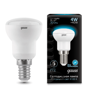 106001204 300x324 - Лампа Gauss LED Reflector R39 E14 4W 4100K