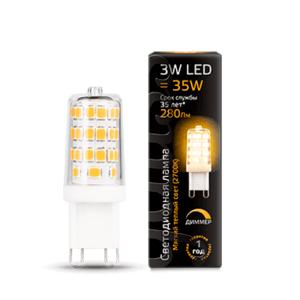 107309103 300x300 - Лампа Gauss LED G9 AC185-265V 3W 2700K диммируемая
