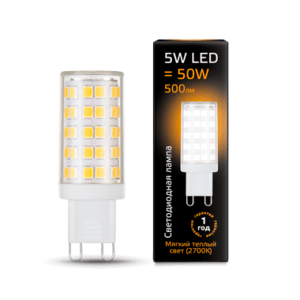 107309105 300x300 - Лампа Gauss LED G9 AC185-265V 5W 2700K керамика