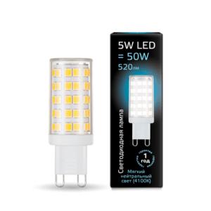 Лампа Gauss LED G4 AC220-240V 5.5W 4100K Glass