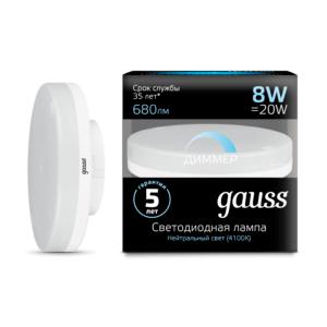 Лампа Gauss LED A60-dim E27 11W 4100К диммируемая
