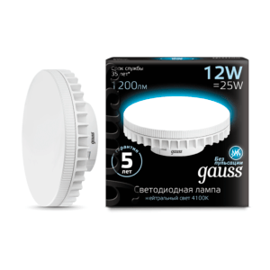 Лампа Gauss LED GX53 6W 4100K