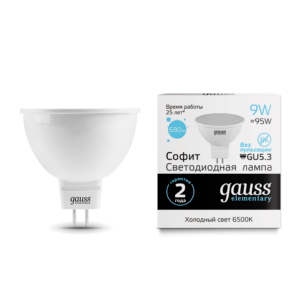 Лампа Gauss LED Elementary MR16 GU5.3 5.5W 4100К