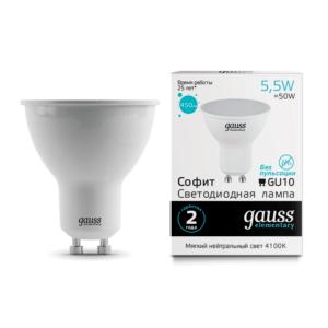 13626 300x300 - Лампа Gauss LED Elementary MR16 GU10 5.5W 4100К