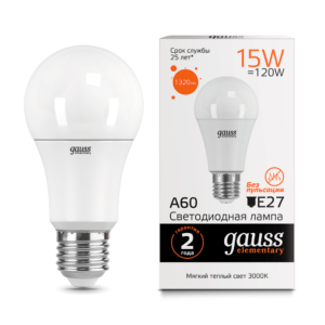 Лампа Gauss LED Elementary A60 15W E27 4100K