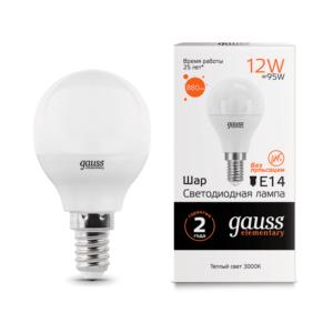 53112 300x300 - Лампа Gauss LED Elementary Шар 12W 880lm