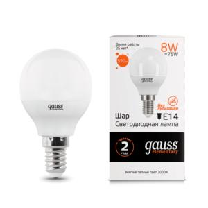 53118 300x300 - Лампа Gauss LED Elementary Globe 8W E14 3000K