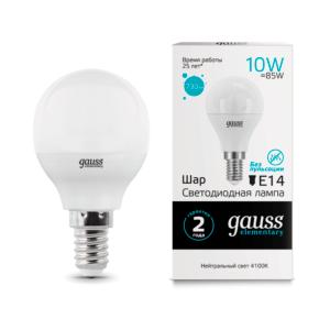 53120 300x300 - Лампа Gauss LED Elementary Globe 10W E14 4100K