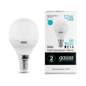 53122 300x300 - Лампа Gauss LED Elementary Шар 12W 920lm E14