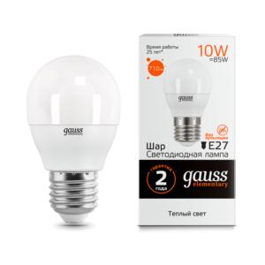 53210 300x300 - Лампа Gauss LED Elementary Globe 10W E27 3000K