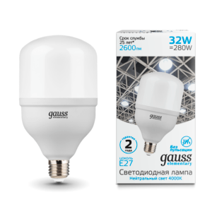 63223 300x300 - Лампа Gauss Elementary LED T100 E27 32W 2600lm