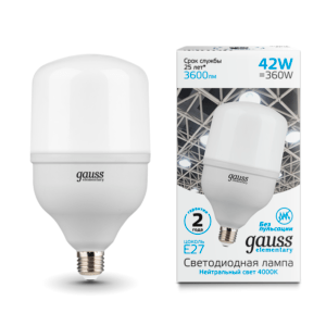 63224 300x300 - Лампа Gauss Elementary LED T120 E27 42W 3600lm