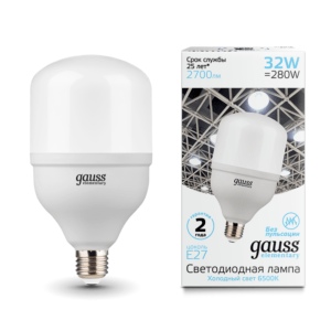 63233 300x300 - Лампа Gauss Elementary LED T100 E27 32W 2700lm