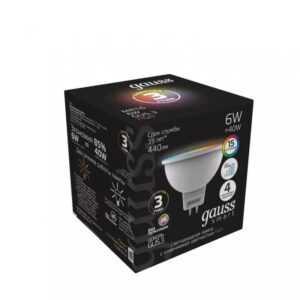 107 300x300 - GAUSS SMART MR16 6W GU5.3 RGBW+DIM 1/10/100