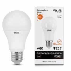 121 300x300 - ЛАМПА  GAUSS  ELEMENTARY LED A60 E27 10W 2700K 1/40