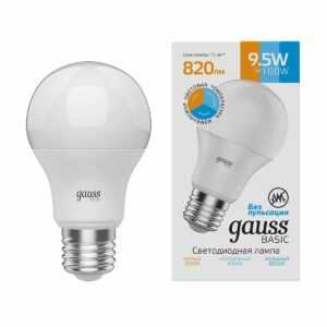 204 300x300 - Лампа Gauss BASIC A60 9,5W 820LM 3000K-4000K-6500K Е27 ИЗМ.ЦВЕТ.ТЕМП. LED 1/10/50