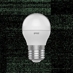 210 300x300 - Лампа Gauss BASIC ШАР  7,5W 670 LM 3000K E27 LED 1/10/100